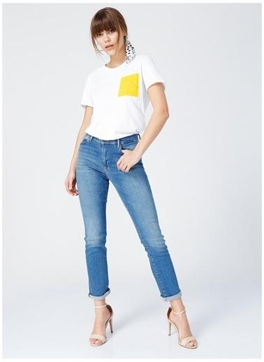 Fabrika Fabrika Tomris Beyaz Kadın T-Shirt Beyaz